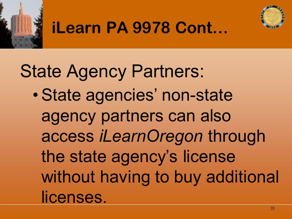 State Agency Partners: