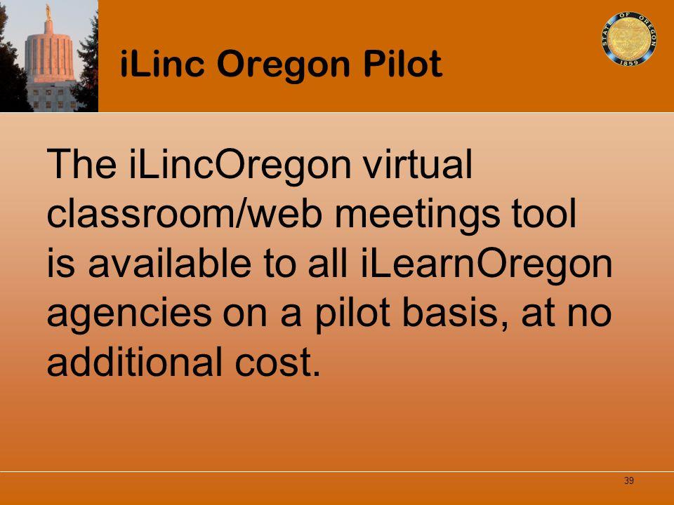 iLinc Oregon Pilot