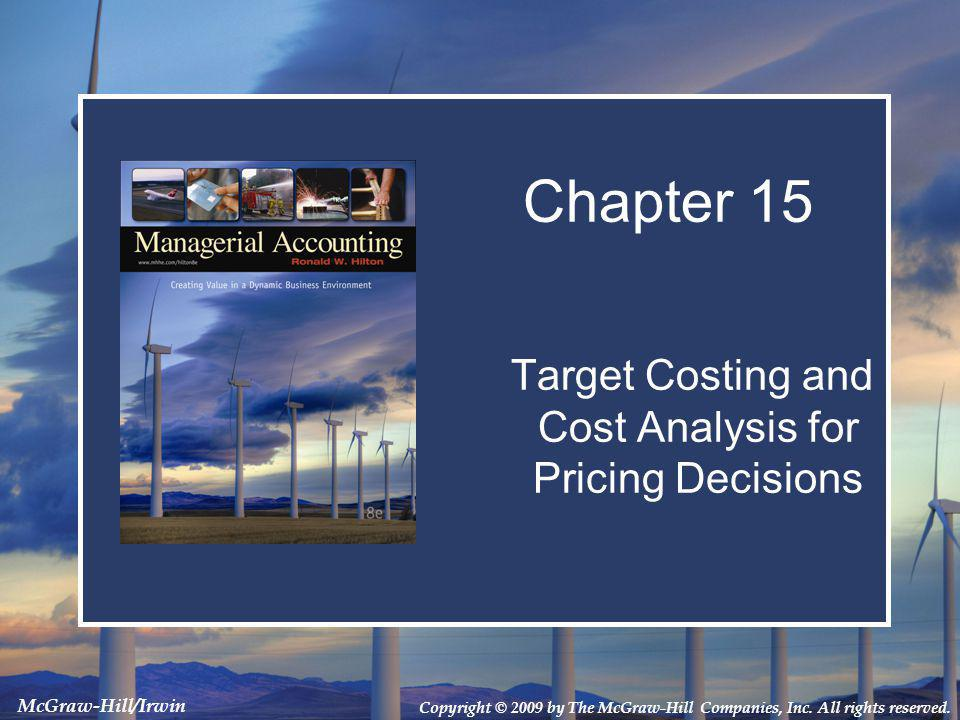 based target costing Target costing, a key to managing product cost during new product development, is described.