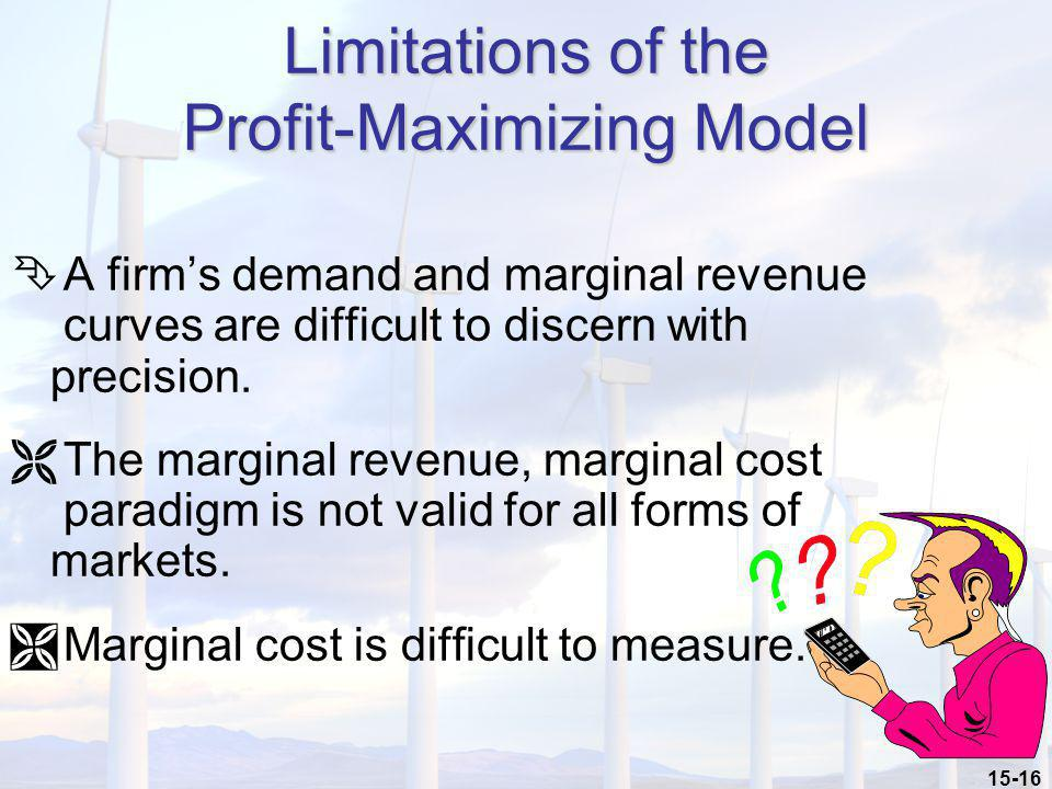 Limitations of the Profit-Maximizing Model