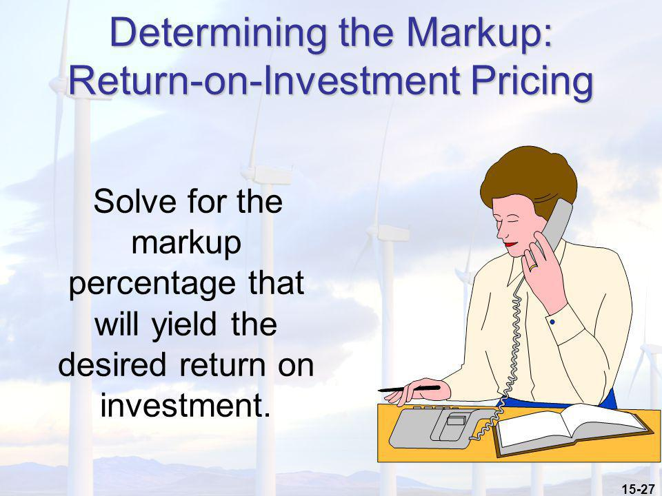 Determining the Markup: Return-on-Investment Pricing