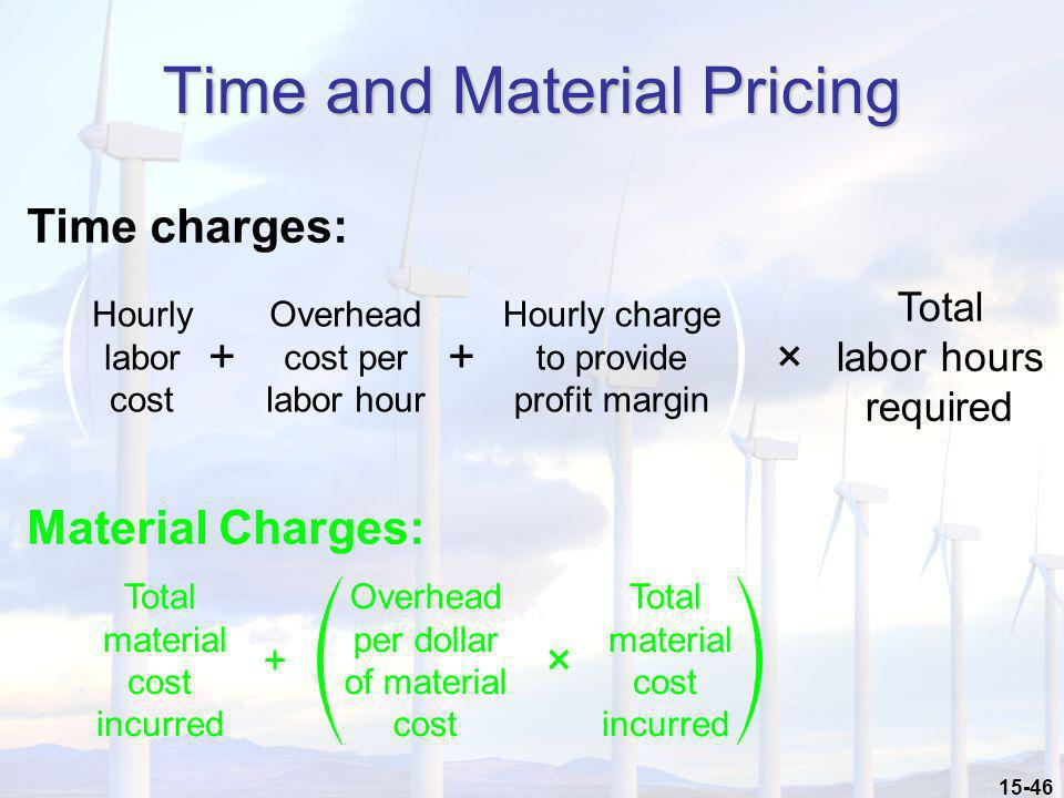 Time and Material Pricing