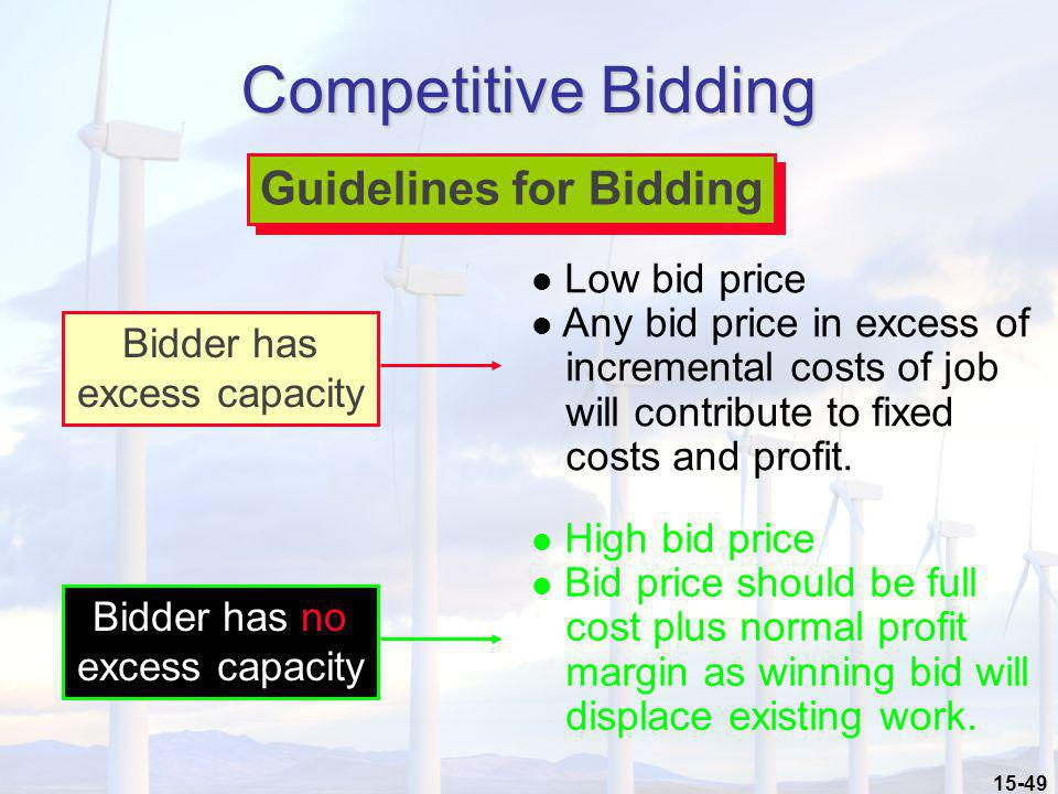 Guidelines for Bidding