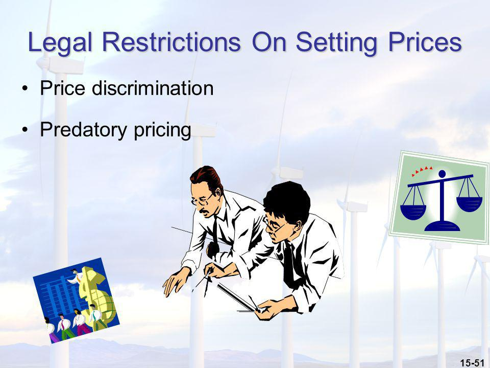 Legal Restrictions On Setting Prices