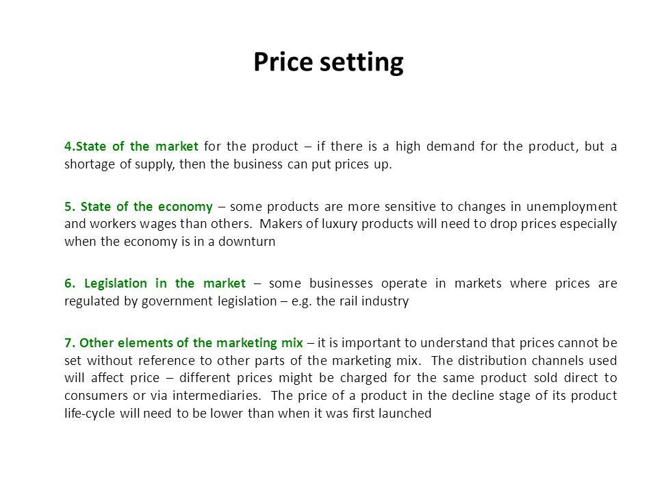 Price setting
