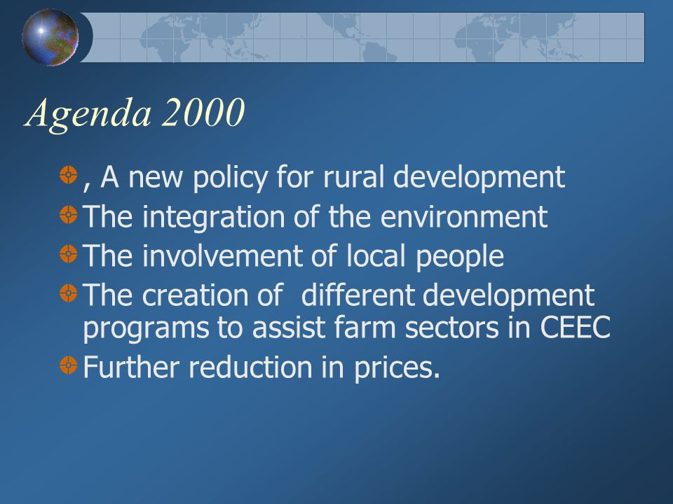 Agenda 2000 , A new policy for rural development