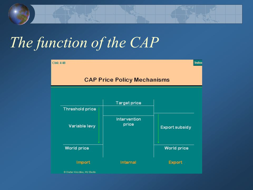 The function of the CAP