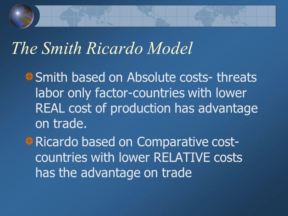The Smith Ricardo Model