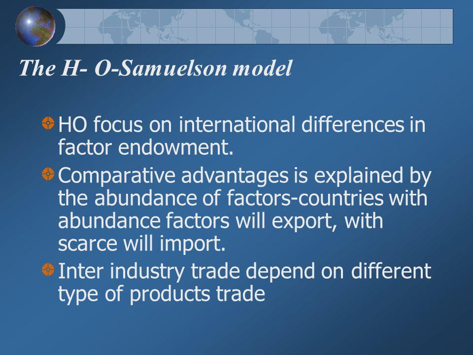 The H- O-Samuelson model