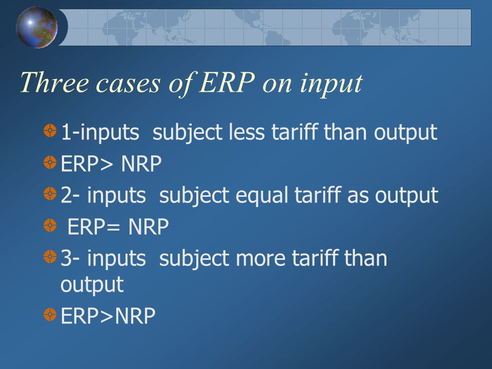 Three cases of ERP on input