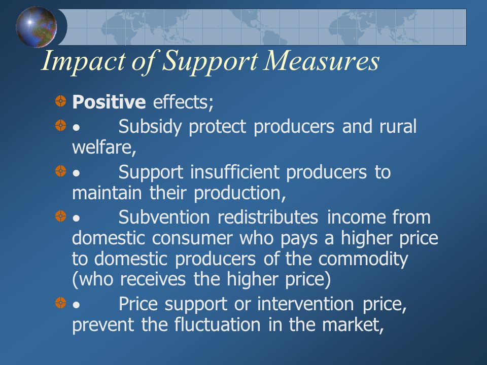 Impact of Support Measures