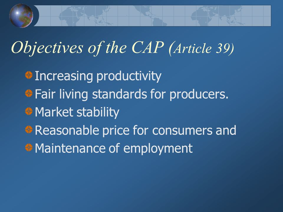 Objectives of the CAP (Article 39)