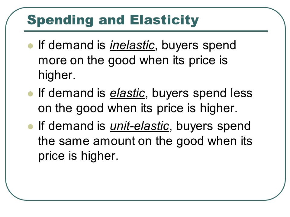 Spending and Elasticity