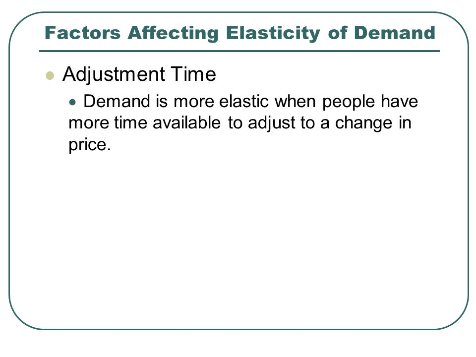 Factors Affecting Elasticity of Demand