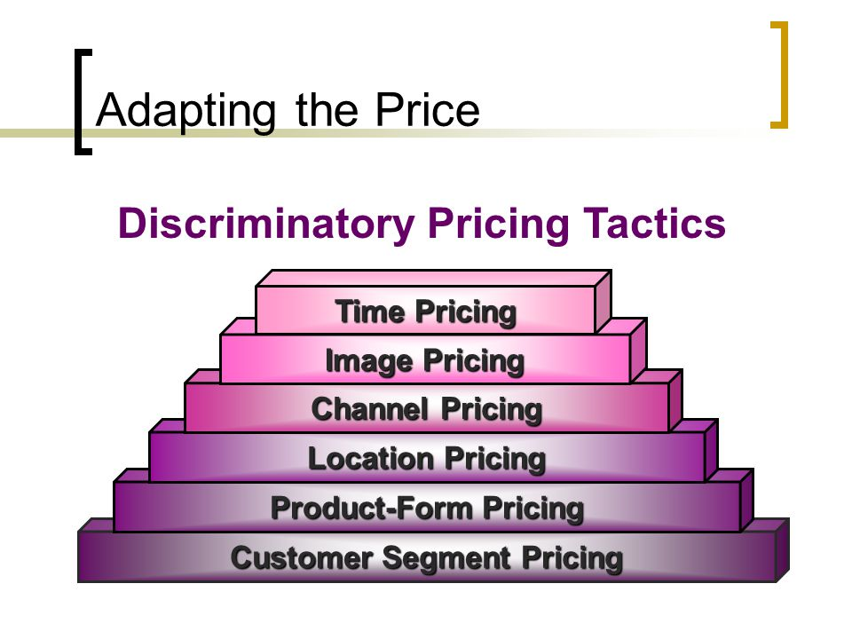 Discriminatory Pricing Tactics Customer Segment Pricing