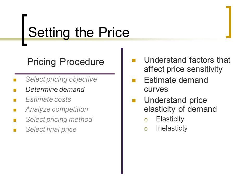 Setting the Price Pricing Procedure