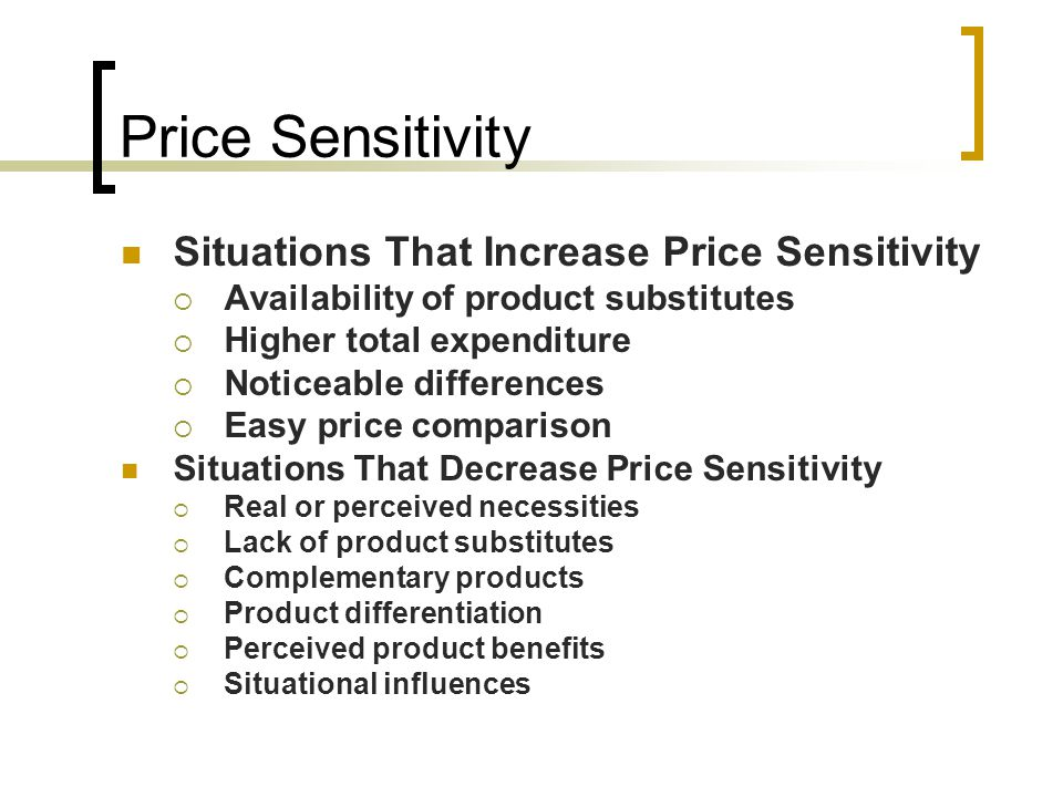 Price Sensitivity Situations That Increase Price Sensitivity