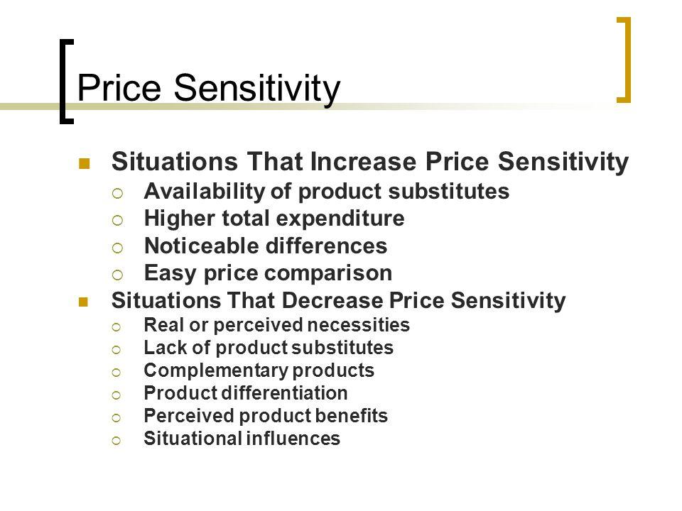 Price Sensitivity Situations That Increase Price Sensitivity