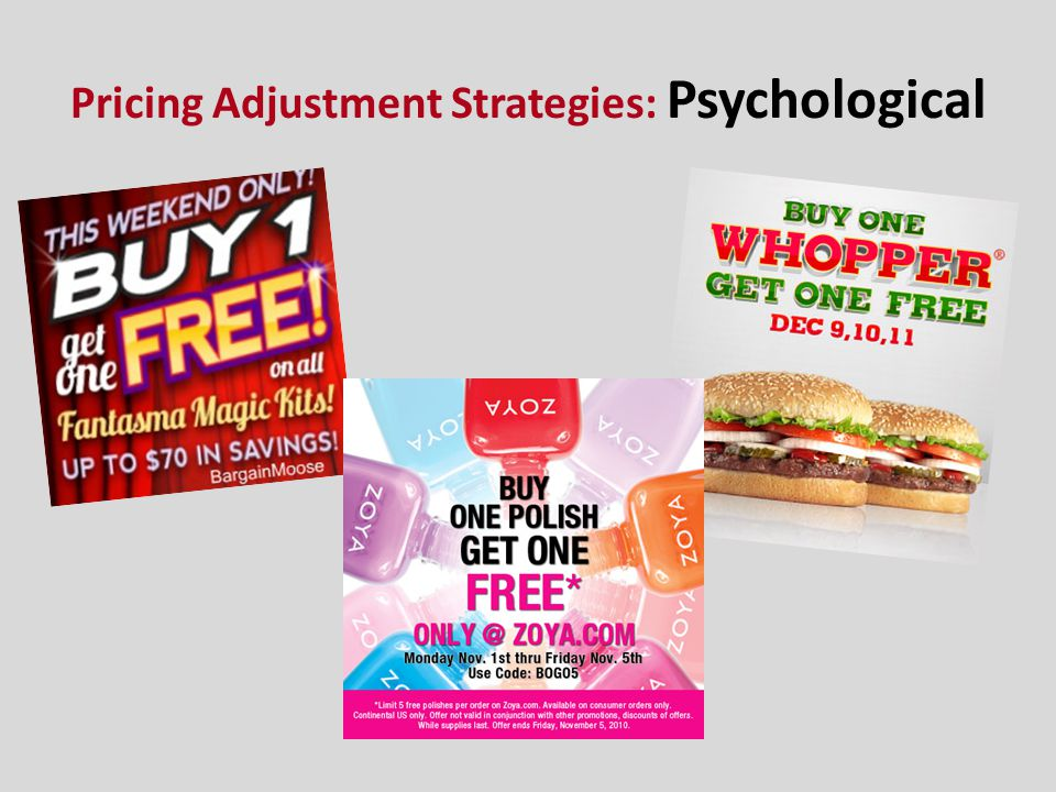 Pricing Adjustment Strategies: Psychological