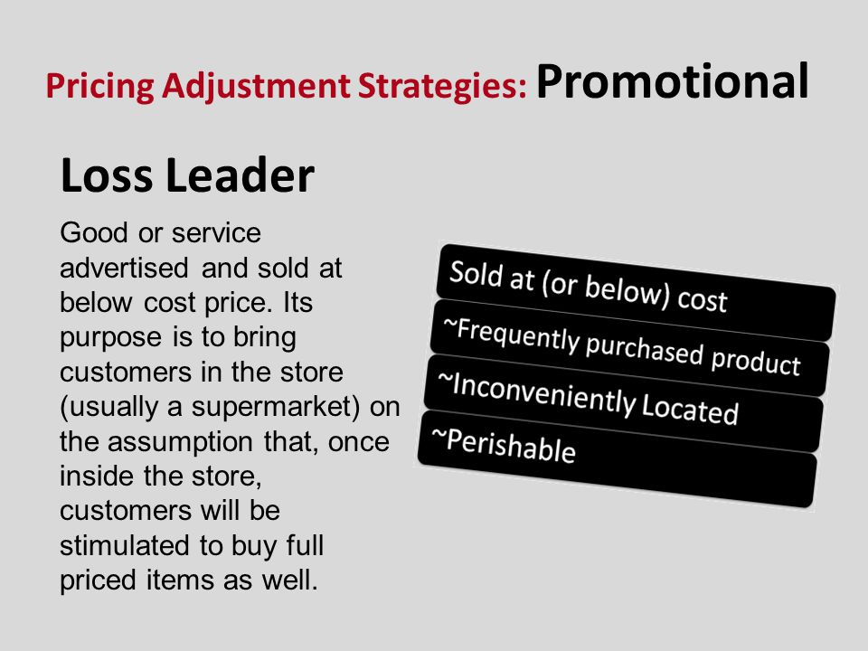 Pricing Adjustment Strategies: Promotional