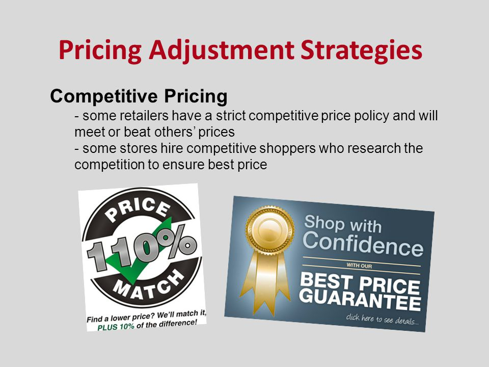 Pricing Adjustment Strategies