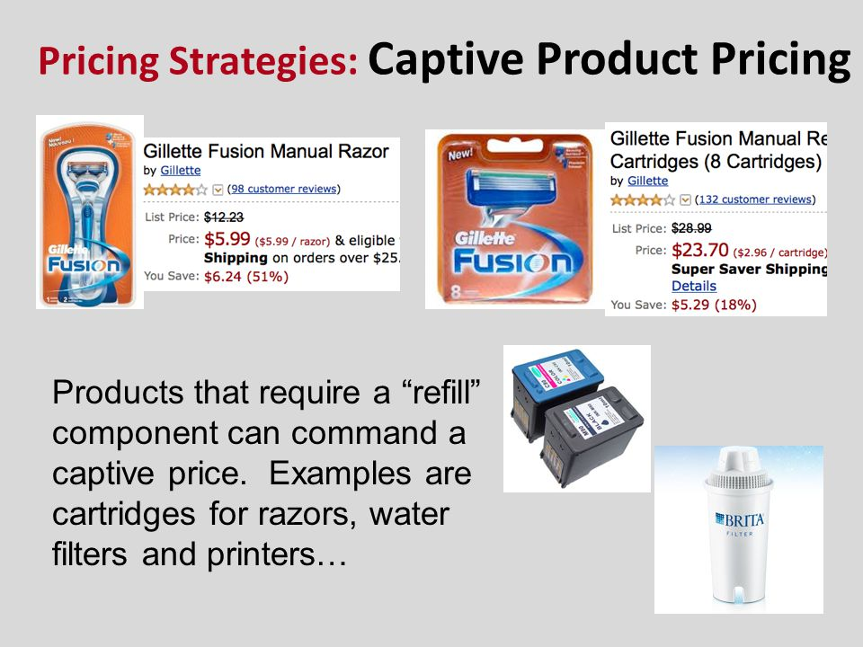 Pricing Strategies: Captive Product Pricing