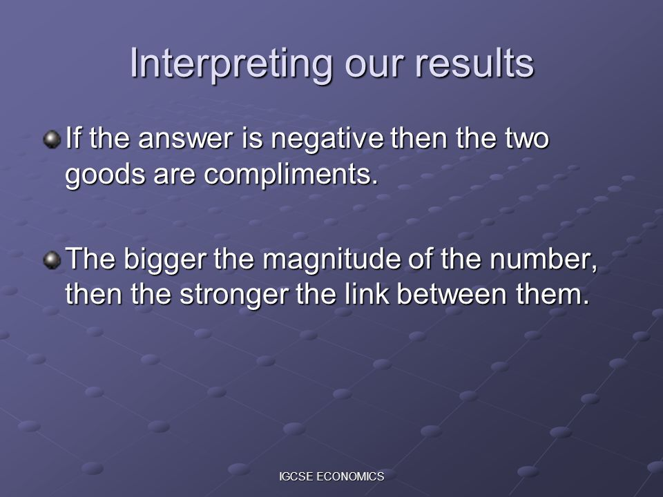 Interpreting our results