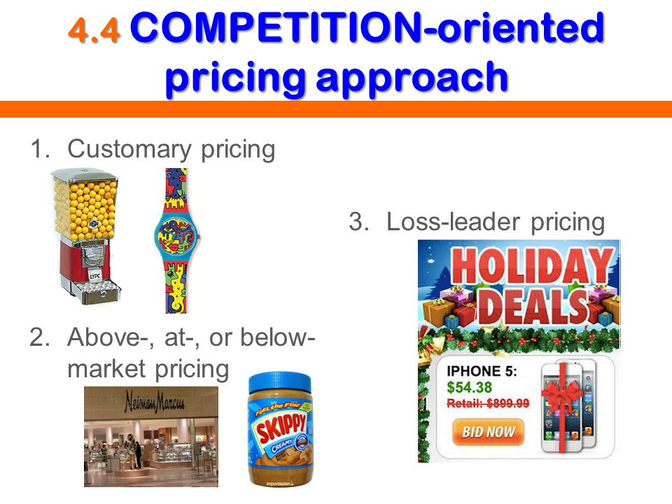 4.4 COMPETITION-oriented pricing approach