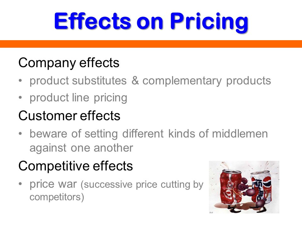Effects on Pricing Company effects Customer effects