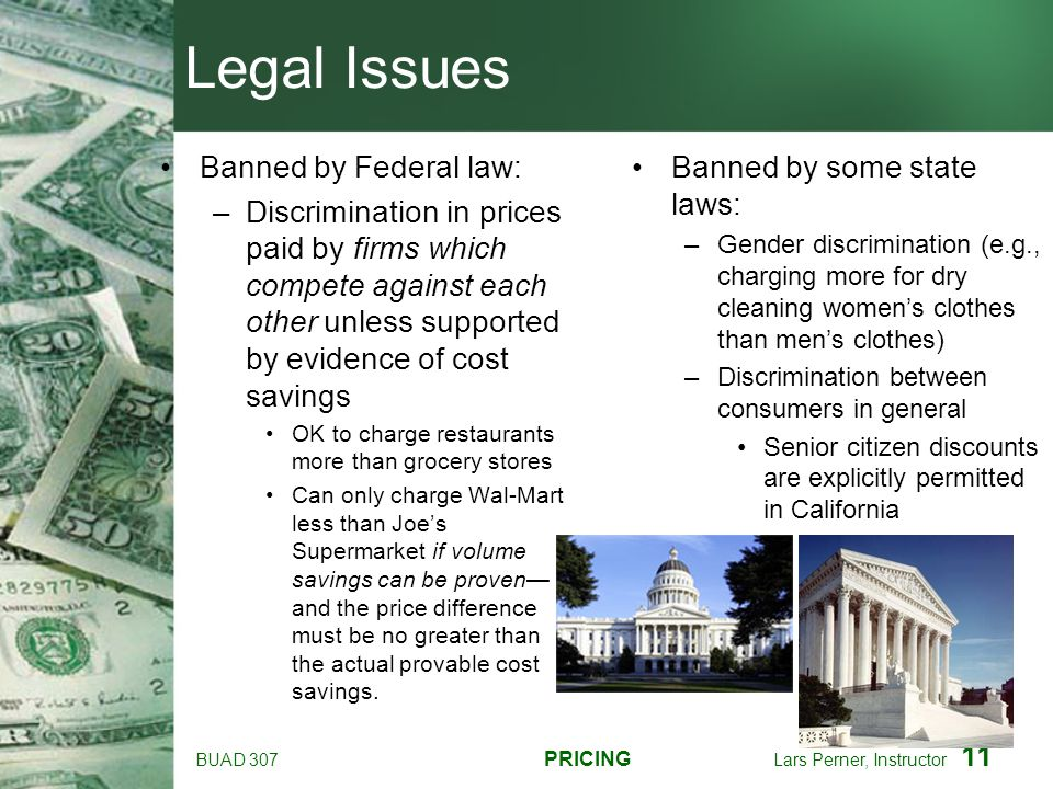 Legal Issues Banned by Federal law: