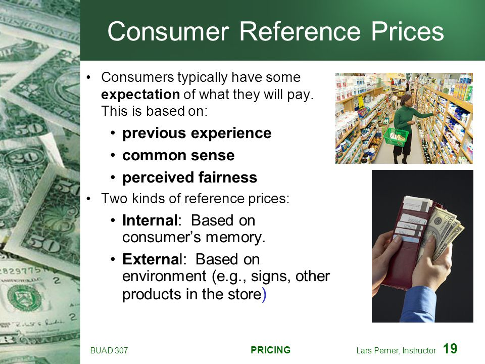 Consumer Reference Prices