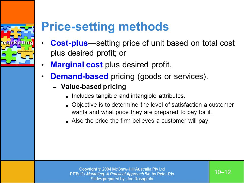 Price-setting methods
