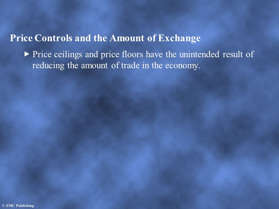 Price Controls and the Amount of Exchange