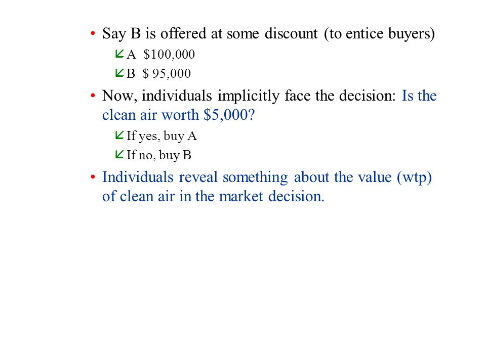Say B is offered at some discount (to entice buyers)