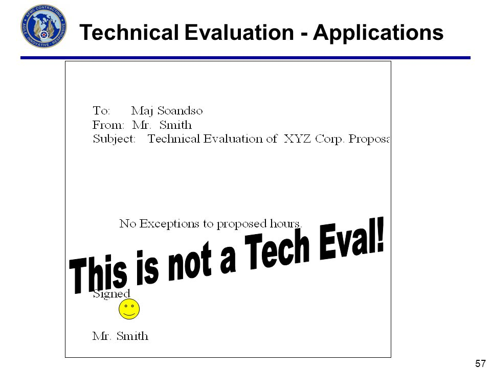 Technical Evaluation - Applications