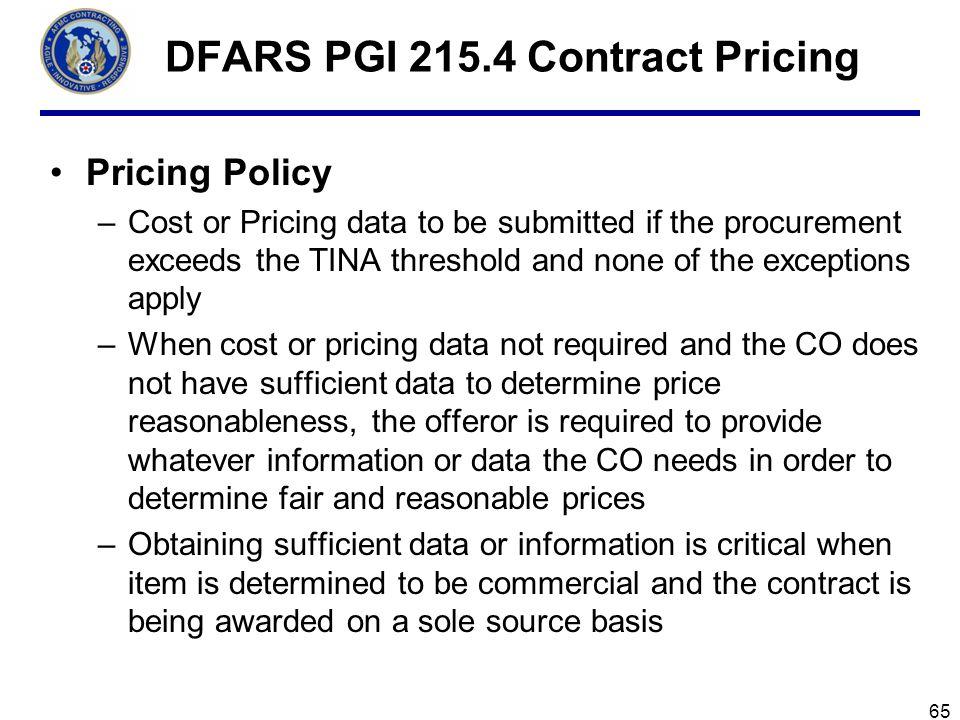 DFARS PGI 215.4 Contract Pricing