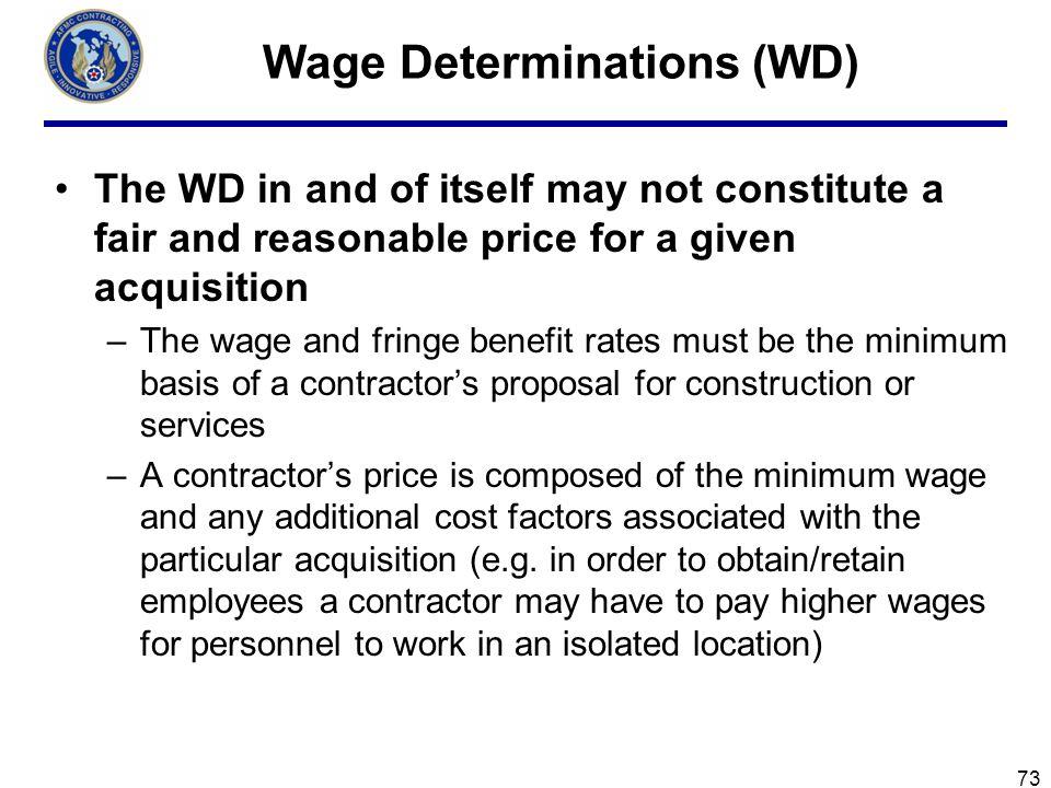 Wage Determinations (WD)