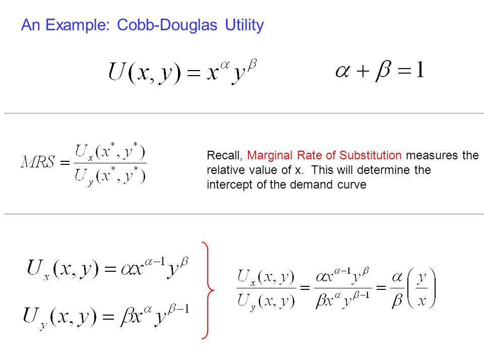 An Example: Cobb-Douglas Utility