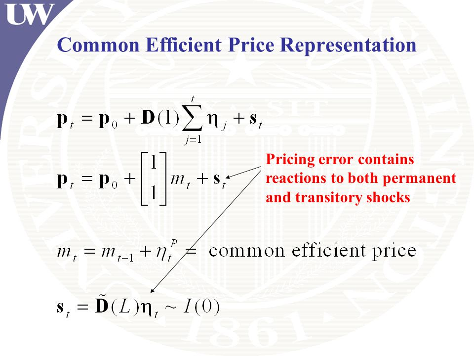 Common Efficient Price Representation
