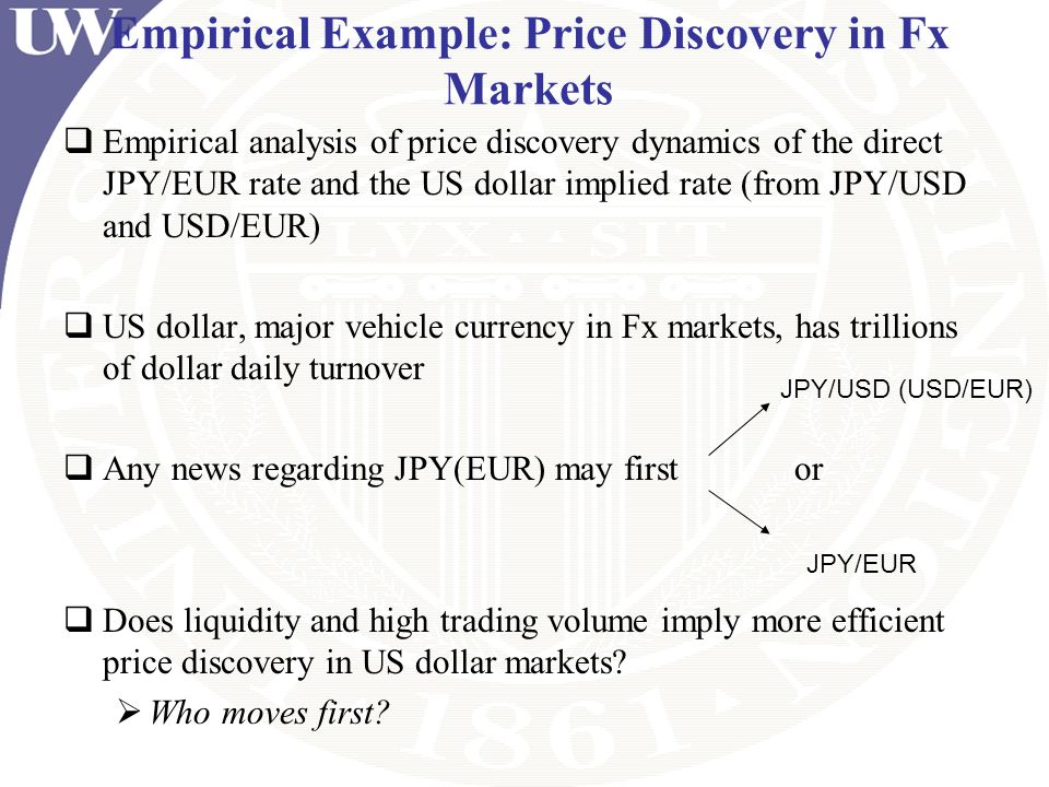 Empirical Example: Price Discovery in Fx Markets