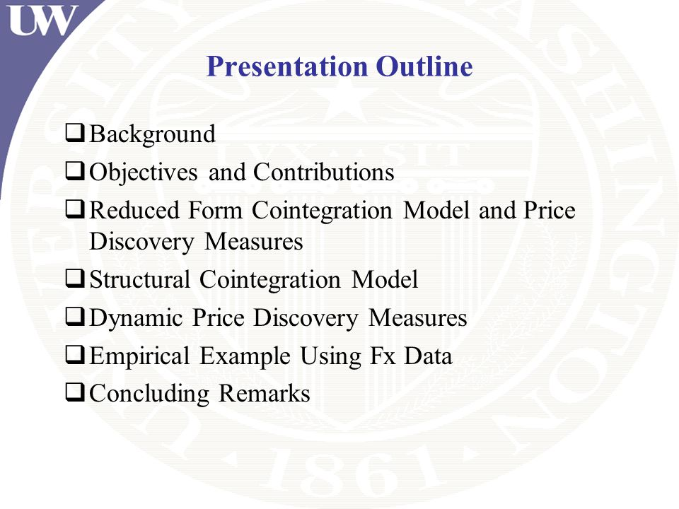 Presentation Outline Background Objectives and Contributions