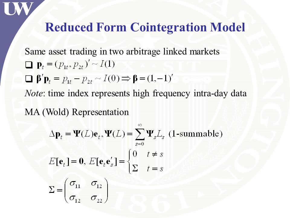 Reduced Form Cointegration Model