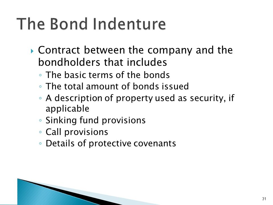 Bond Classifications Security Seniority