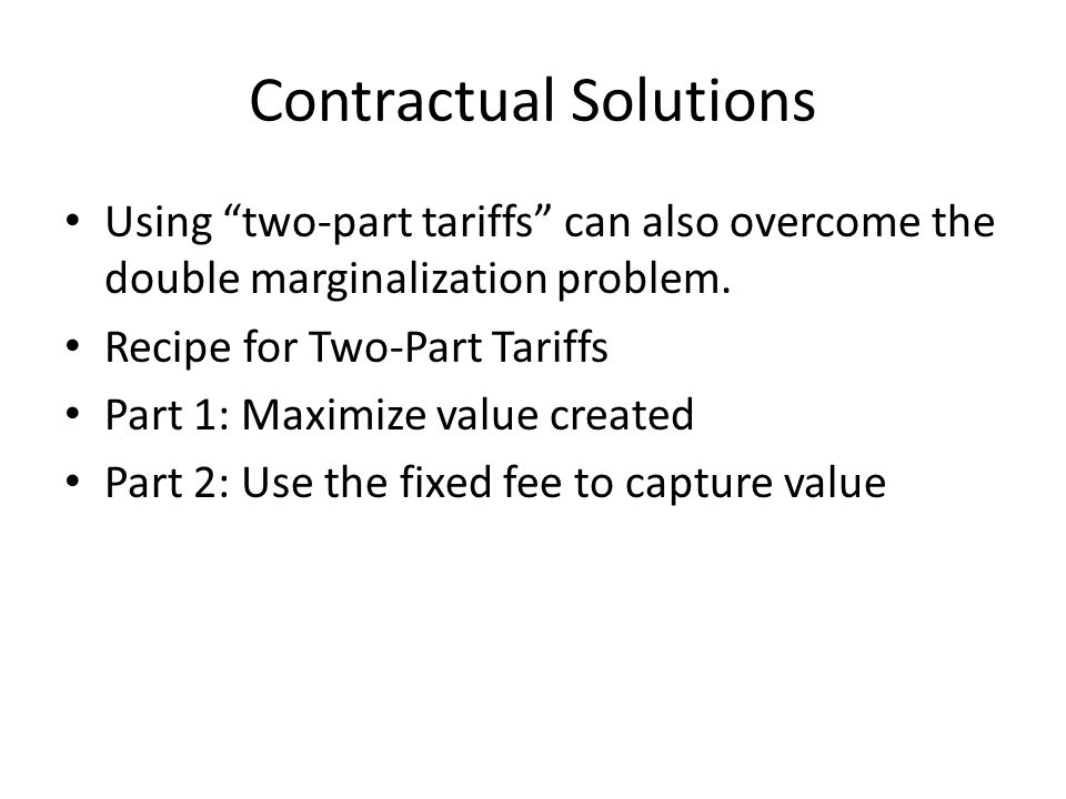 Contractual Solutions