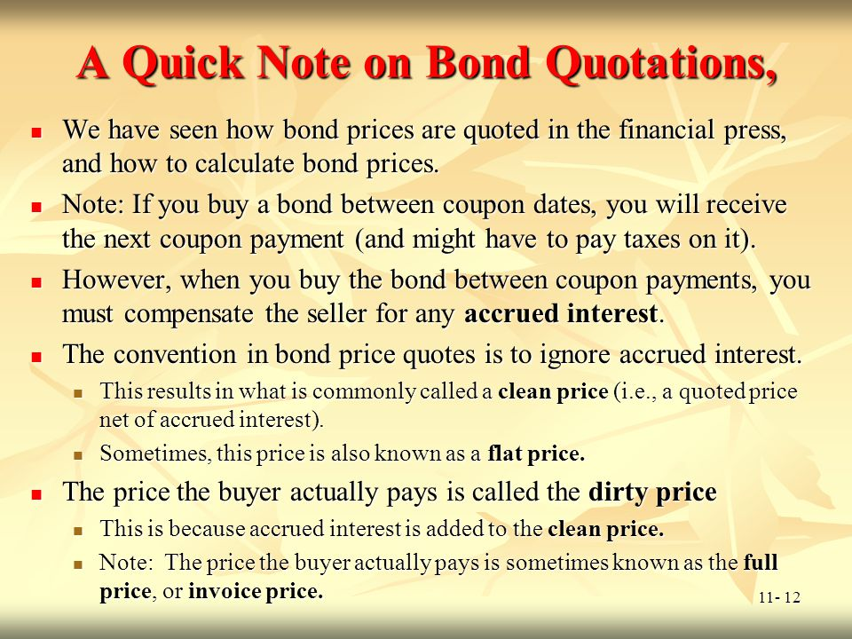 A Quick Note on Bond Quotations,