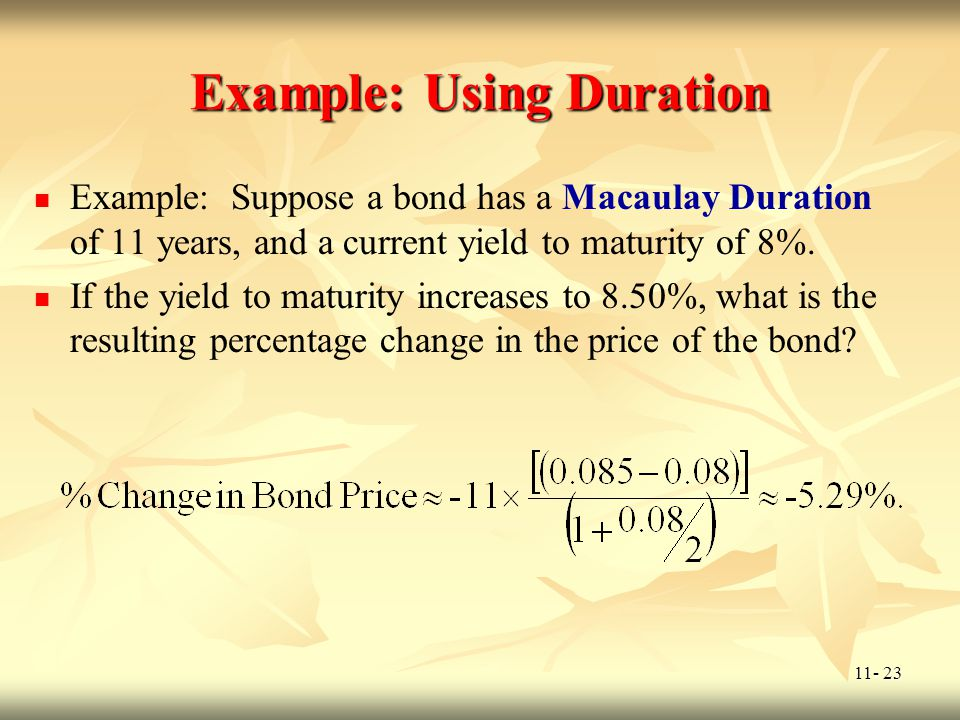 Example: Using Duration