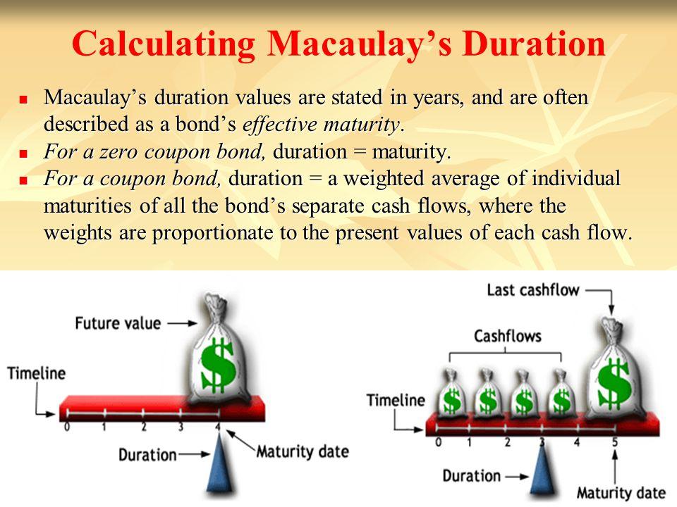 Calculating Macaulay's Duration