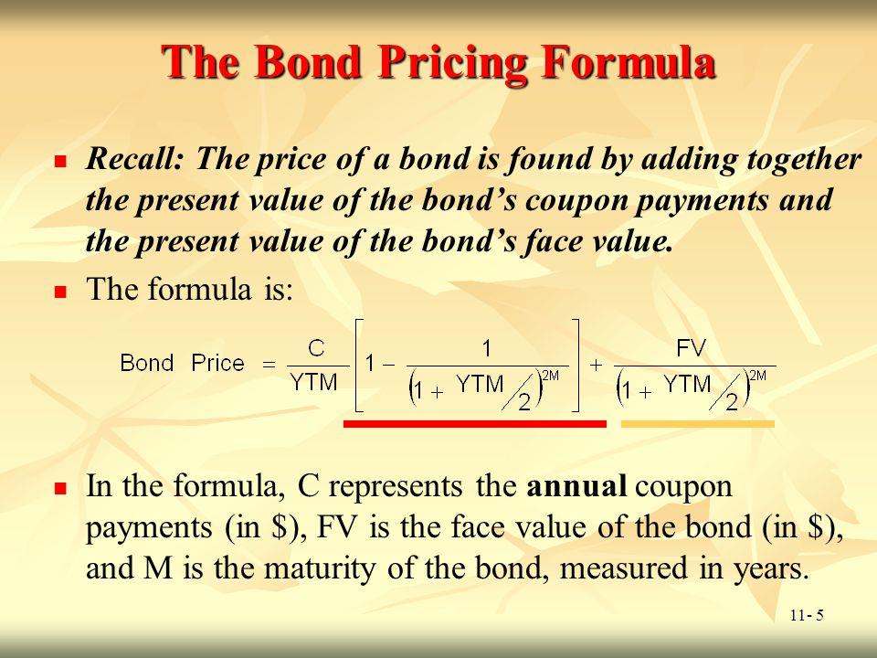 The Bond Pricing Formula