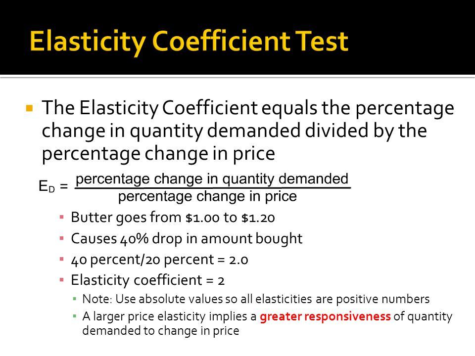 Elasticity Coefficient Test