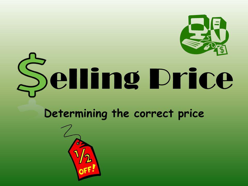 Determining the correct price